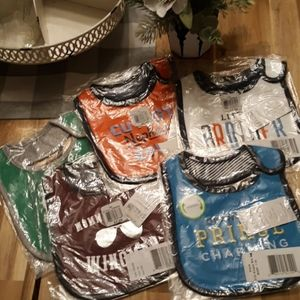 Bundle of 5 boys carters reversible bibs NWT